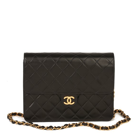 Chanel Chanel Black Quilted Lambskin Small Classic Single Flap Bag