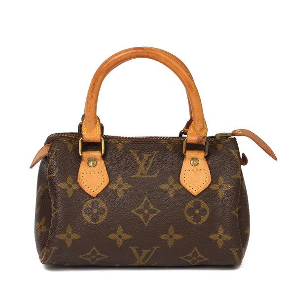Louis Vuitton Brown Monogram Coated Canvas & Vachetta Leather Vintage Mini HL Speedy