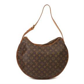 Louis Vuitton Brown Monogram Coated Canvas & Vachetta Leather Croissant GM