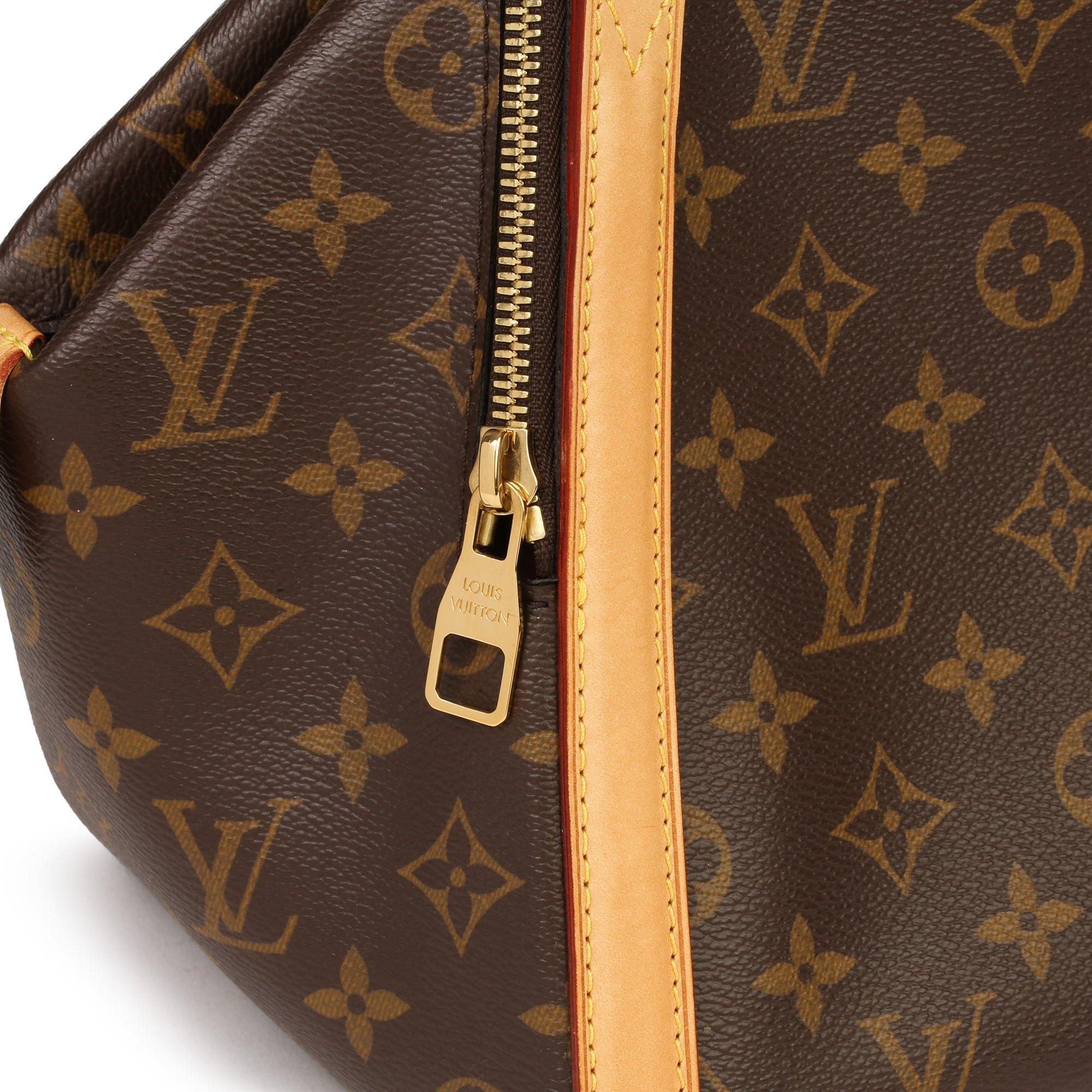 Louis Vuitton Brown Monogram Coated Canvas Vachetta Leather Male MM