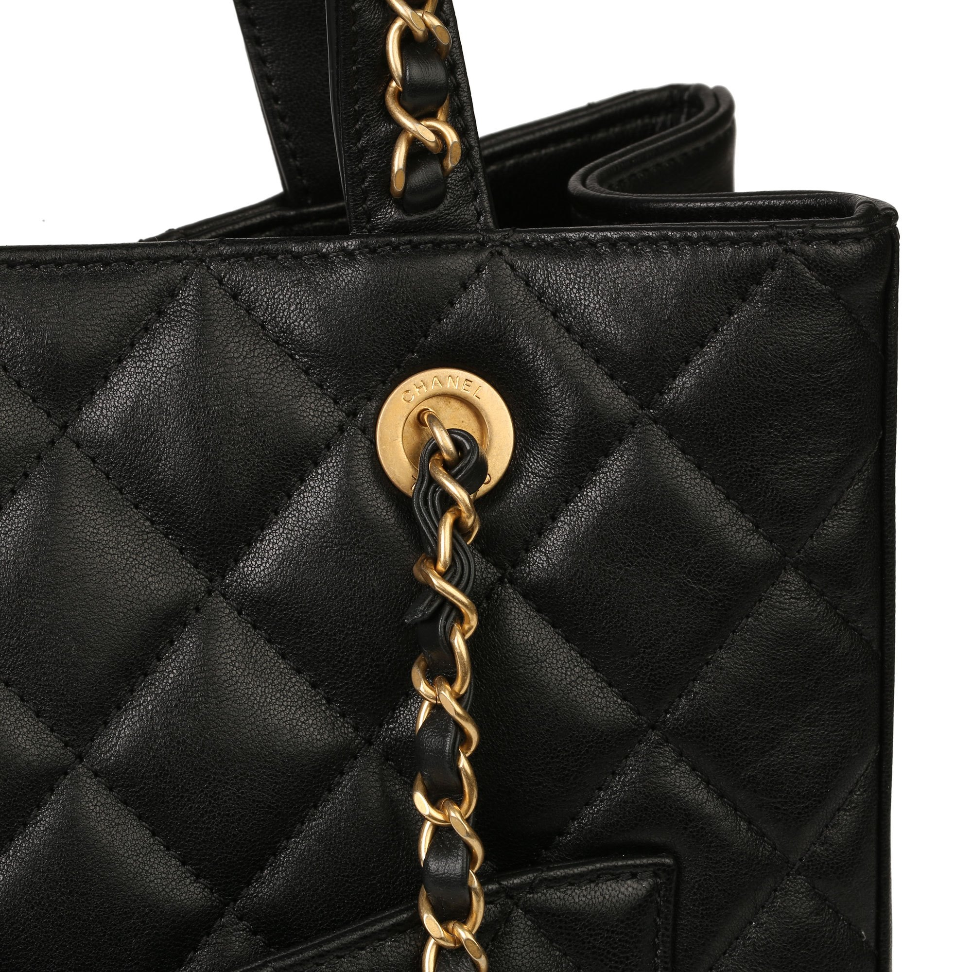 Chanel Black Quilted Calfskin Leather 19 Shoulder Tote