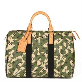 Louis Vuitton Green Monogramouflage Coated Canvas & Vachetta Leather Murakami Speedy 35