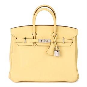 Hermès Jaune Poussin Swift Leather Birkin 25cm