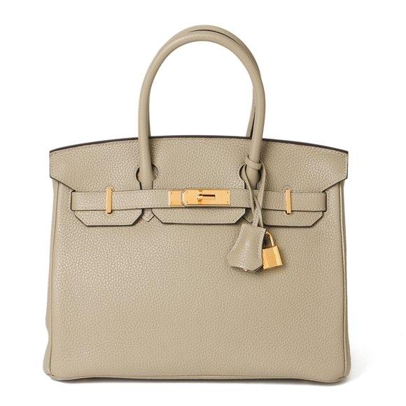 Hermès Sage Clemence Leather Birkin 30cm