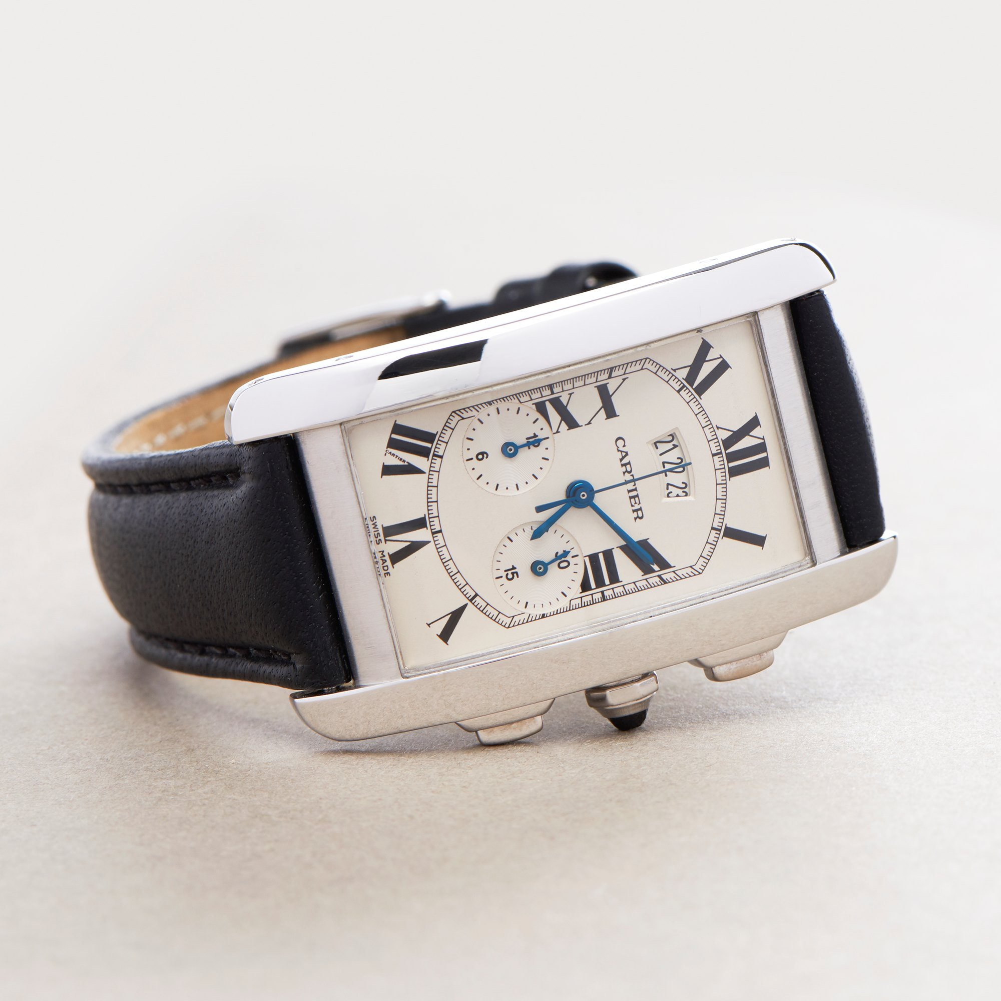 Cartier Tank Americaine 18K White Gold 2569