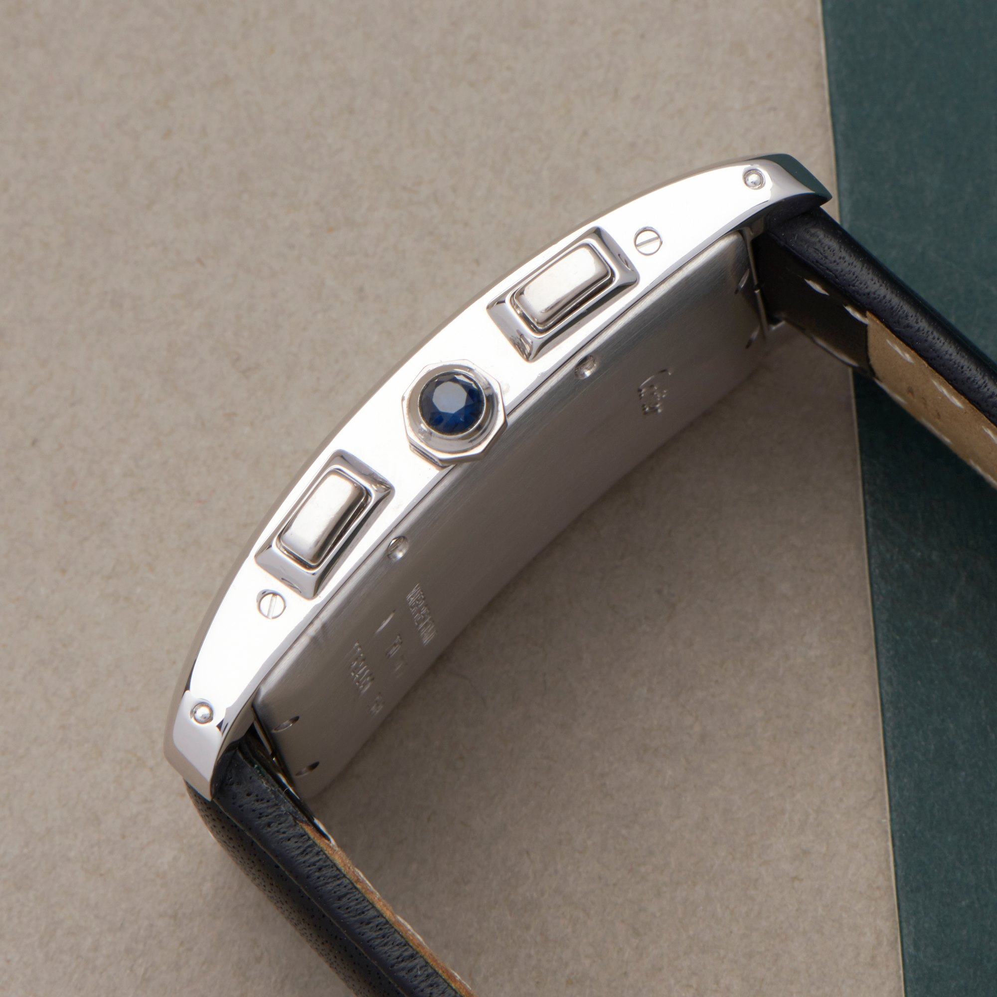 Cartier Tank Americaine Chronoreflex 18K White Gold 2569