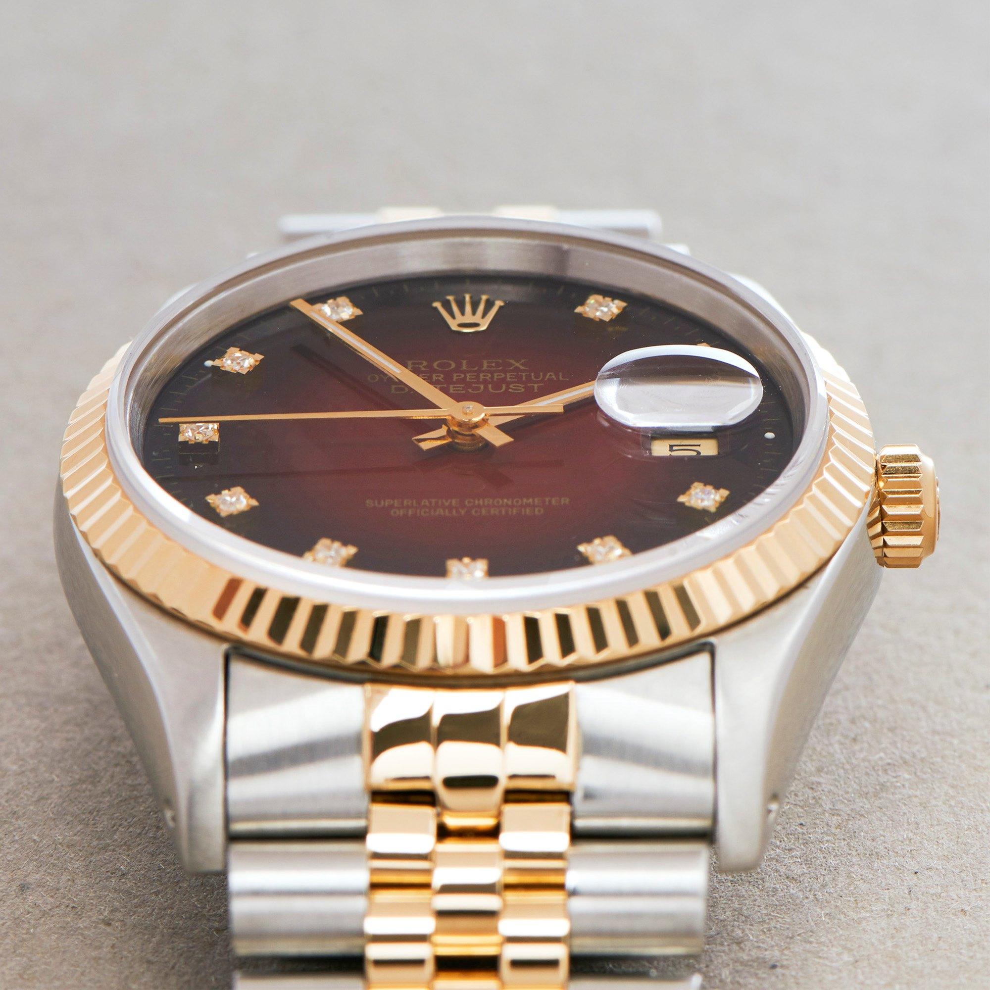 Rolex Datejust 36 Vignette 18K Yellow Gold & Stainless Steel 16233G