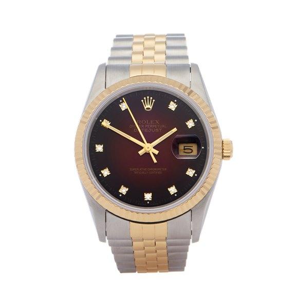 Rolex Datejust 36 Vignette 18K Yellow Gold & Stainless Steel - 16233G