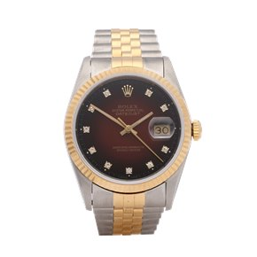 Rolex Datejust 36 Vignette 18K Yellow Gold & Stainless Steel - 16233G
