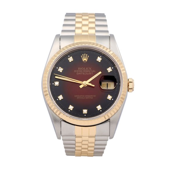 Rolex Datejust 36 'Vignette' Dial 18K Yellow Gold & Stainless Steel - 16233