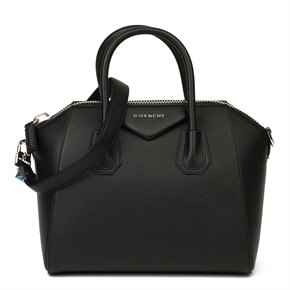 Givenchy Black Goatskin Leather Small Antigona