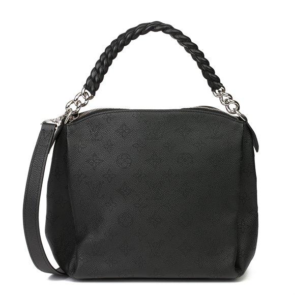 Louis Vuitton Black Perforated Mahina Calfskin Leather Babylon BB