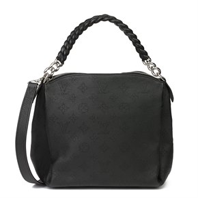 Louis Vuitton Black Perforated Mahina Calfskin Leather Babylon BB