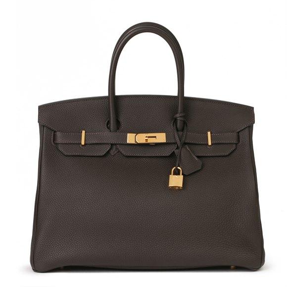Hermès Macassar Togo Leather Birkin 35cm