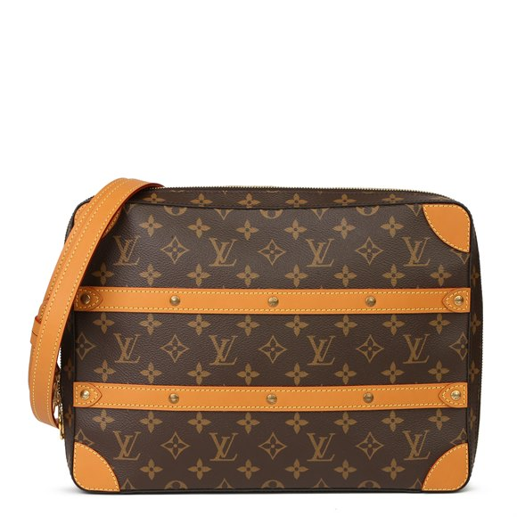 Louis Vuitton Brown Monogram Coated Canvas & Vachetta Leather Soft Trunk Messenger MM