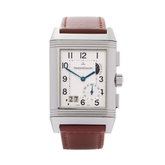 Jaeger-LeCoultre Reverso 'Grande Date' Duoface Stainless Steel - 240.8.18