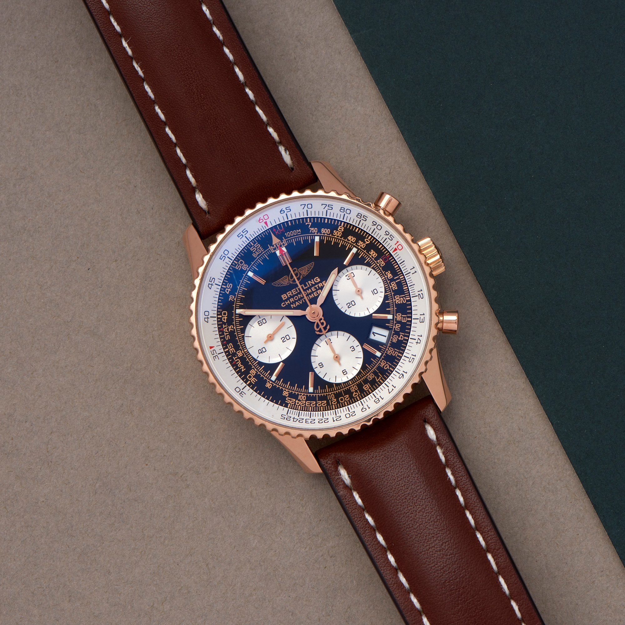 Breitling Navitimer Limited Edition of 500 Pieces 18K Rose Gold R23322