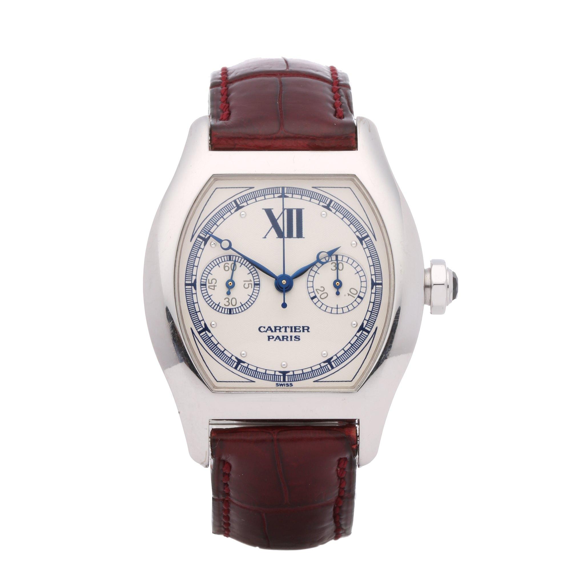 Cartier Tortue Monopoussoir CPCP 18K White Gold 2396