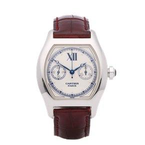 Cartier Tortue Monopoussoir CPCP 18K White Gold - 2396