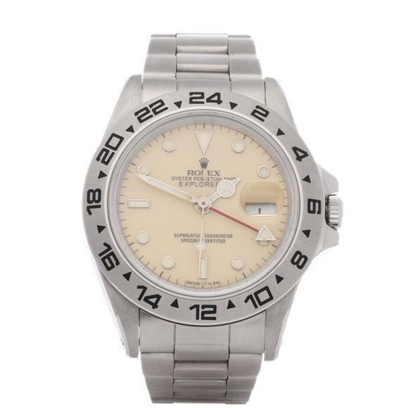Rolex Explorer II 'Rail Dial' Stainless Steel - 16550