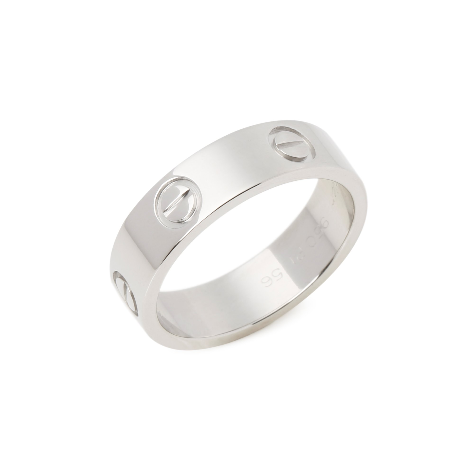Cartier Love Platinum Band Ring