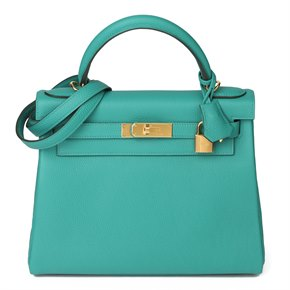 Hermès Vert Verone Togo Leather Kelly 28cm Sellier