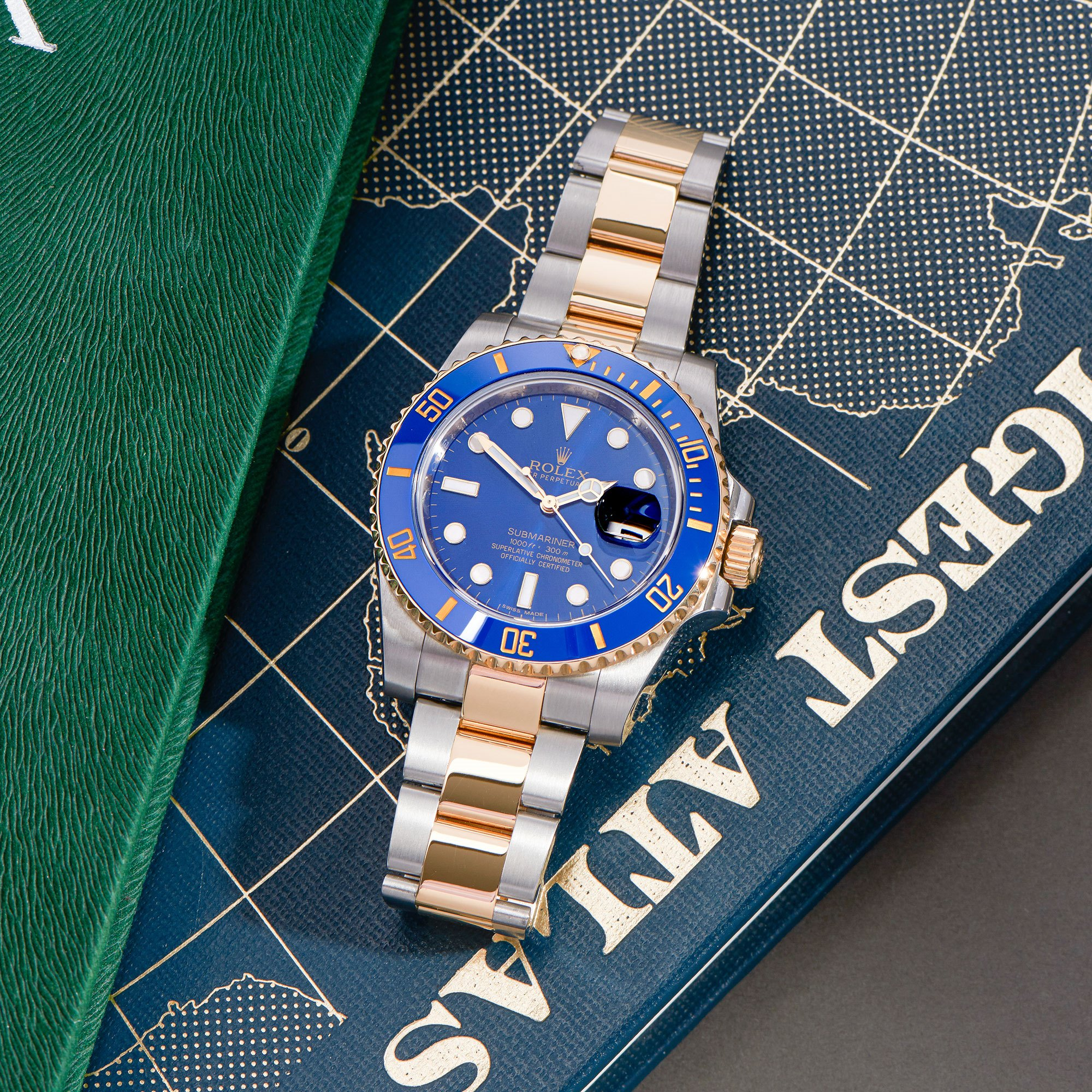 Rolex Submariner Date 18K Yellow Gold & Stainless Steel 116613