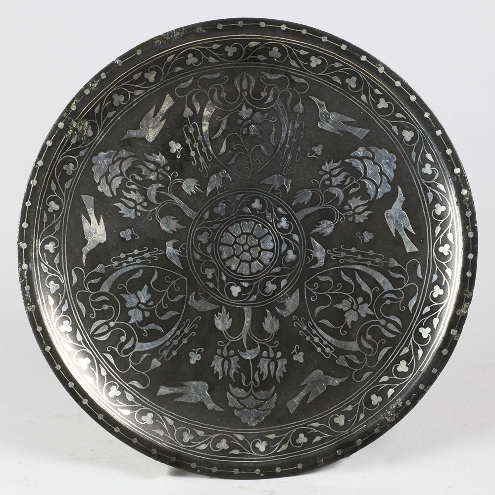 INDIAN BIDRIWARE PLATE Dates from around 1850