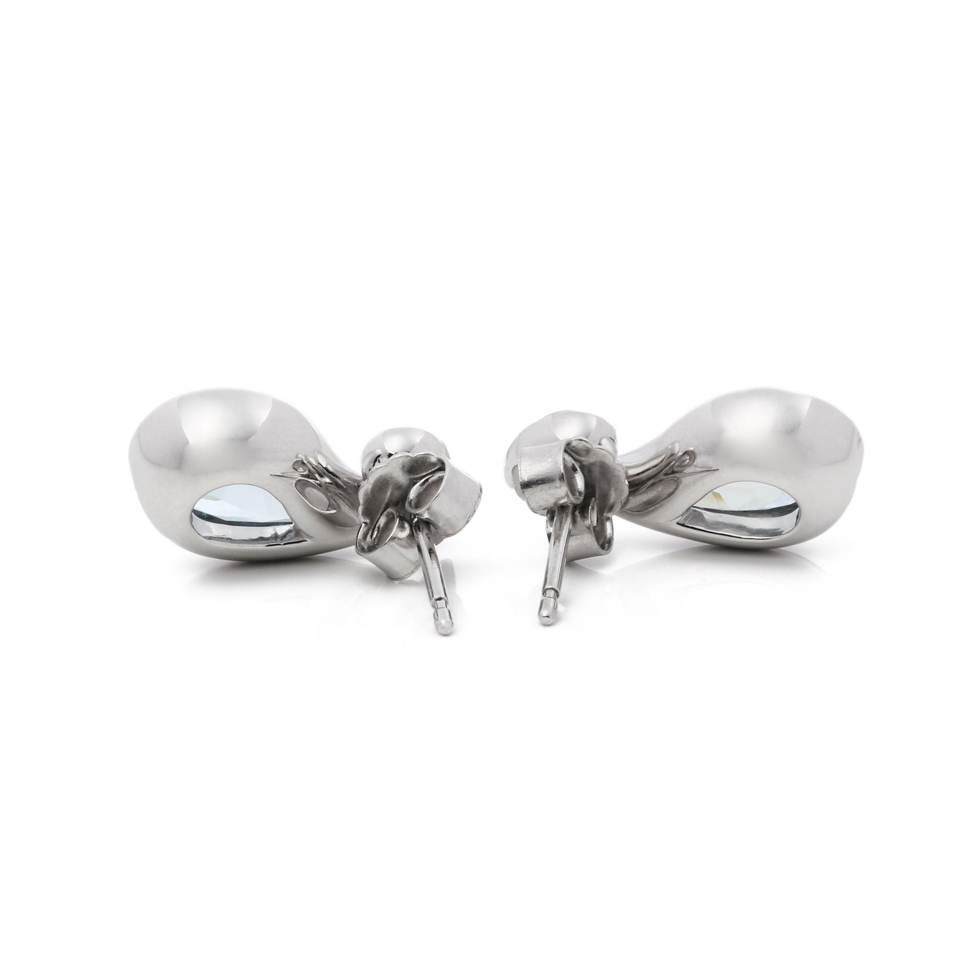 Boodles Aquamarine & Diamond Drop Earring