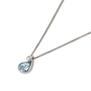Boodles Aquamarine & Diamond Drop Pendant
