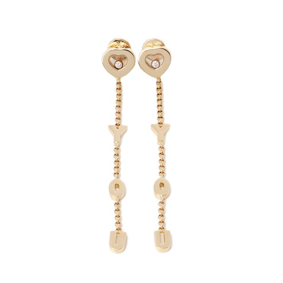 Chopard I love you earrings