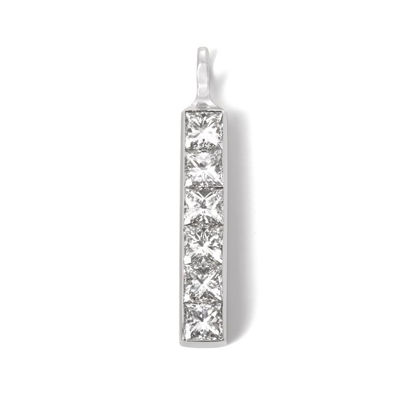 Theo Fennell Princess Cut Diamond Pendant