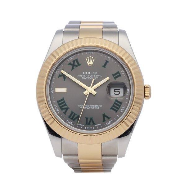 Rolex Datejust 41 'Wimbledon' 18K Yellow Gold & Stainless Steel - 116333