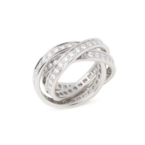 Cartier Trinity Full Diamond Ring