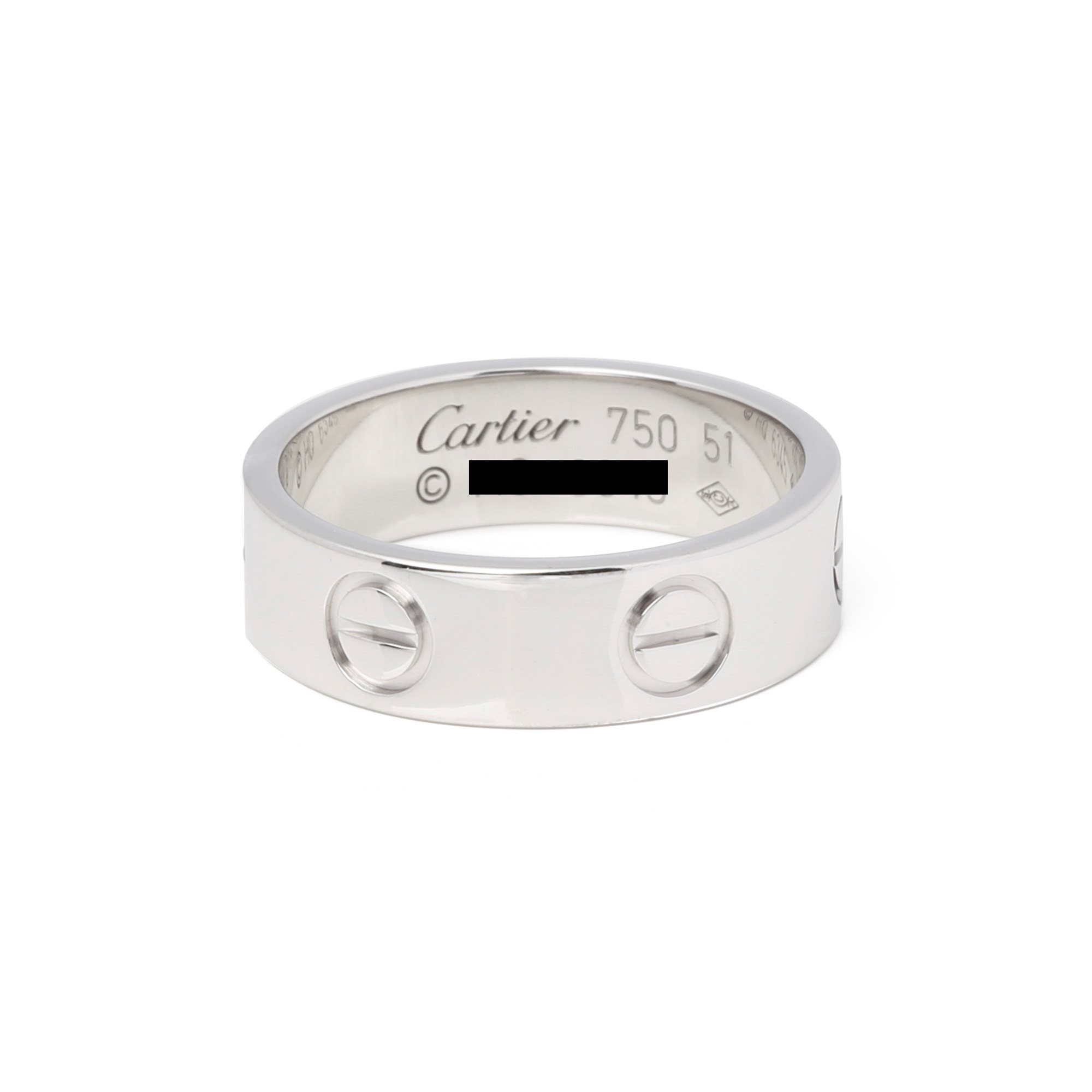 Cartier White Gold Love Ring