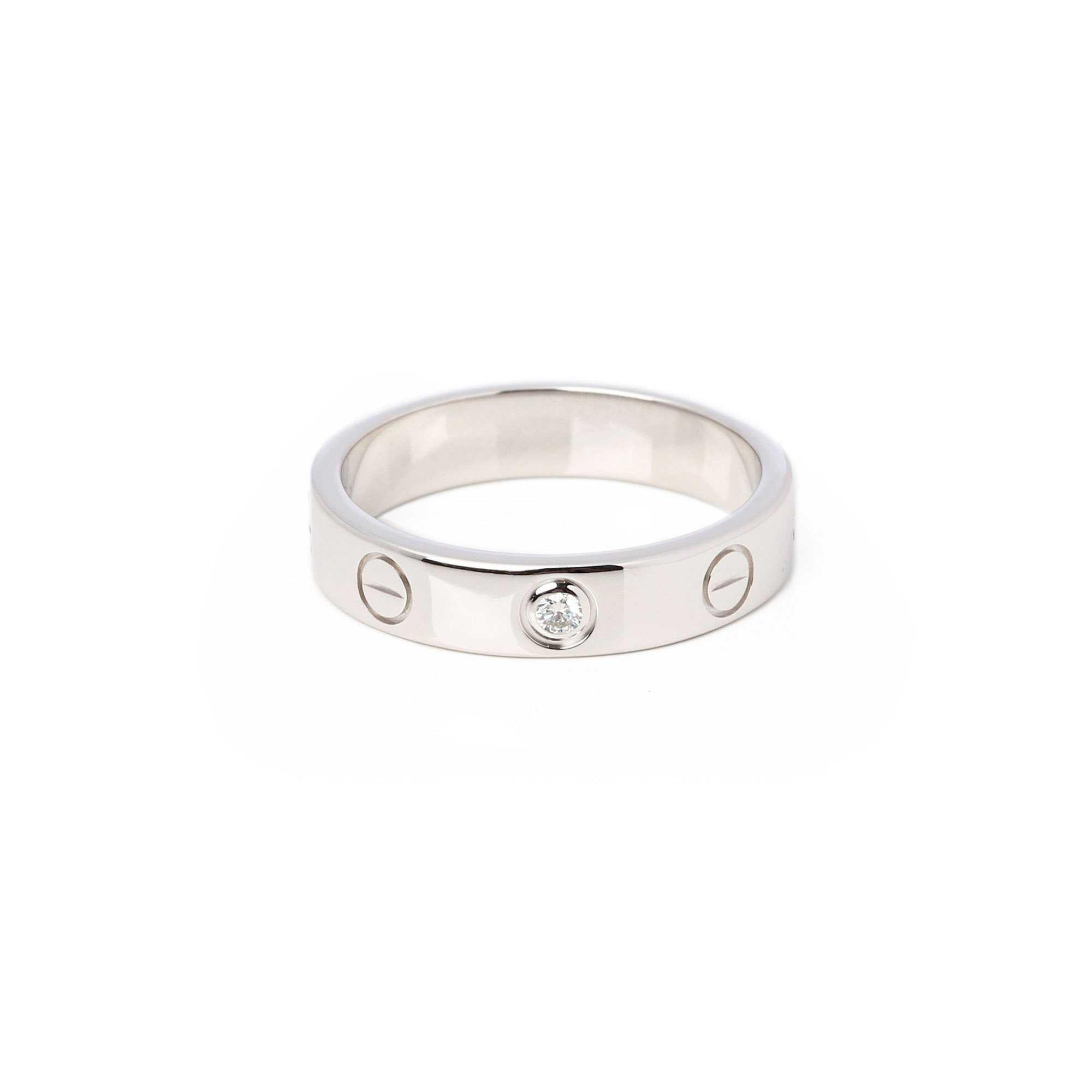 Cartier White Gold Love 1 diamond ring