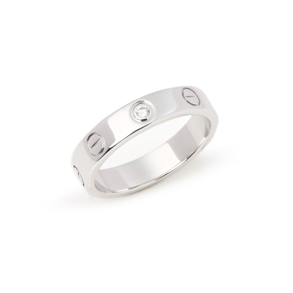 Cartier White Gold Love 1 diamond ring
