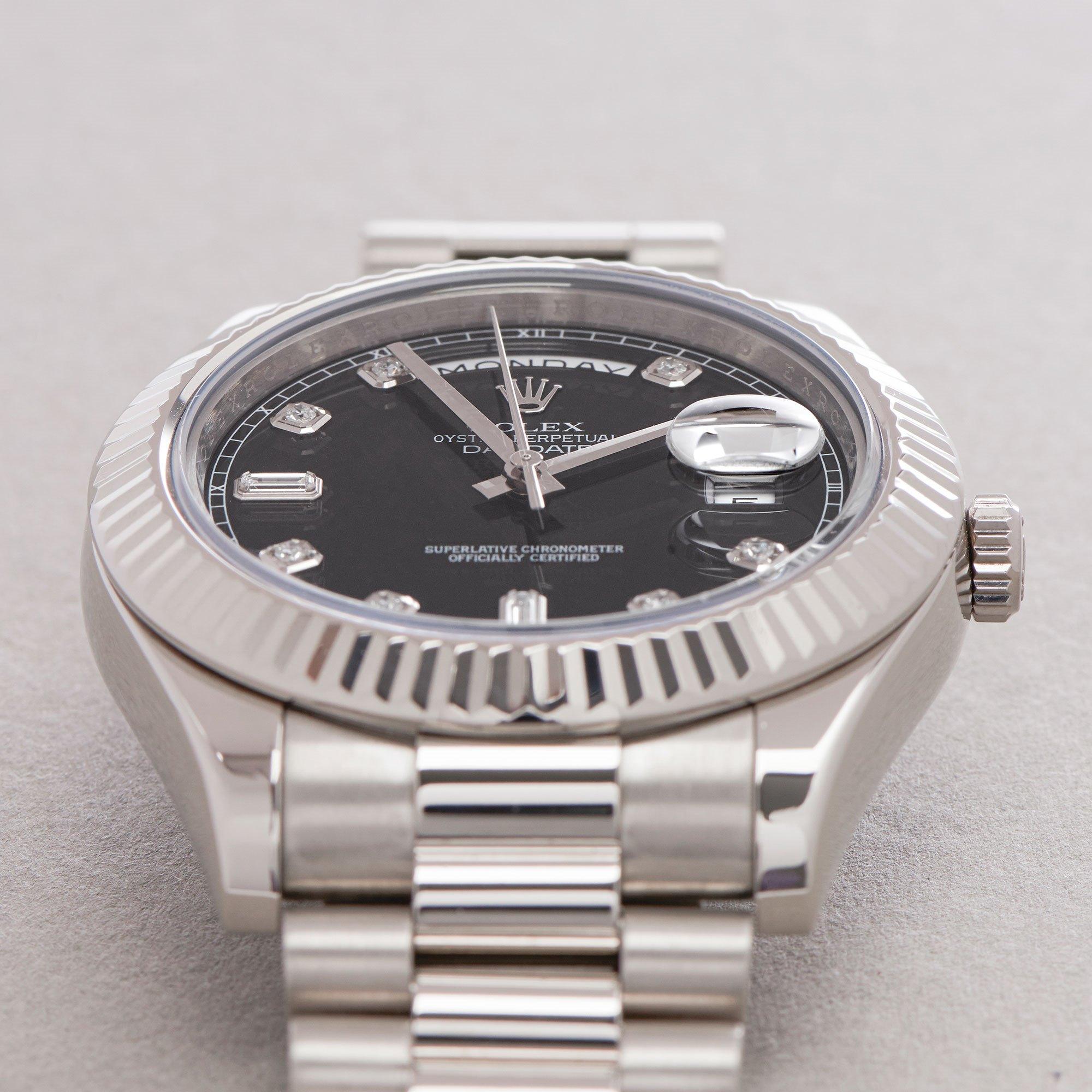 Rolex Day-Date 41 Diamond Dot Dial 18K White Gold 218239