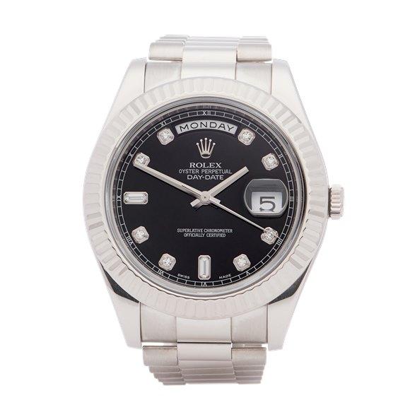 Rolex Day-Date 41 Diamond Dot Dial 18K White Gold - 218239