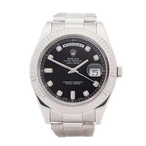 Rolex Day-Date 41 Diamond Dot Dial 18K White Gold - 218239