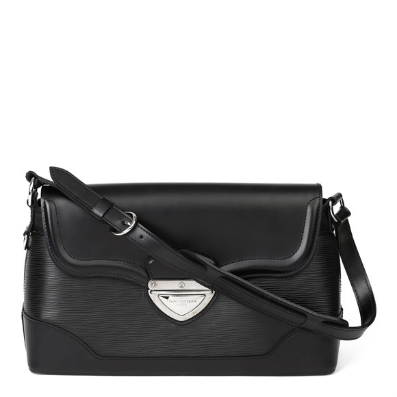 Louis Vuitton Black Epi Leather & Black Calfskin Leather Beverly Bag