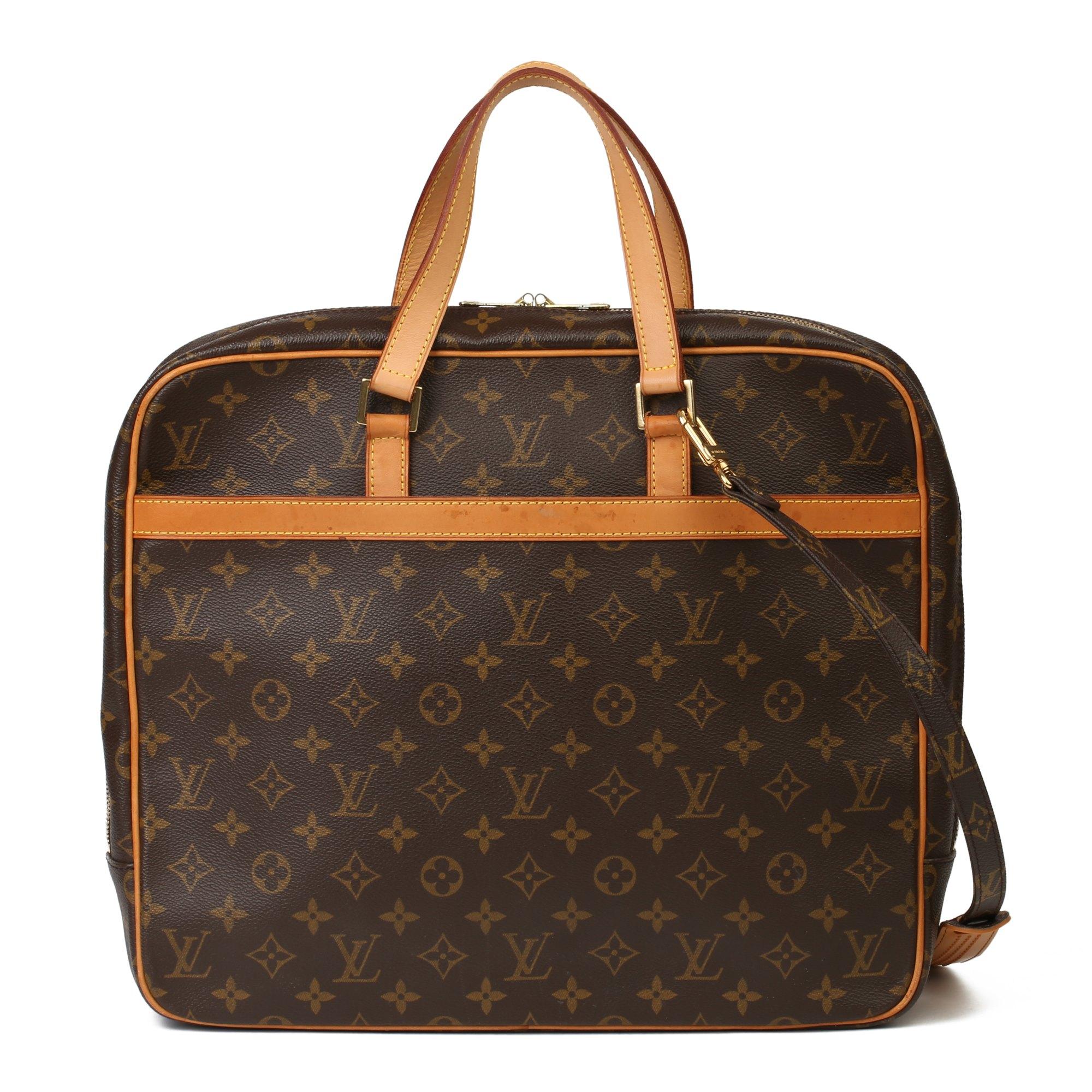 Louis Vuitton Brown Monogram Coated Canvas & Vachetta Leather Porte-Documents Pegase Briefcase