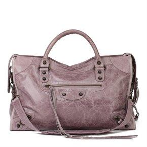 Balenciaga Purple Chevre Leather Classic City Bag