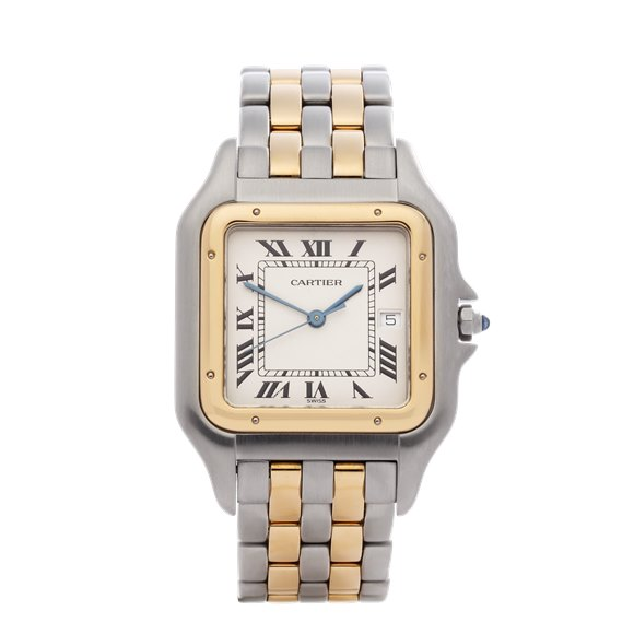 Cartier Panthère '2 Row' 18K Yellow Gold & Stainless Steel - 187957