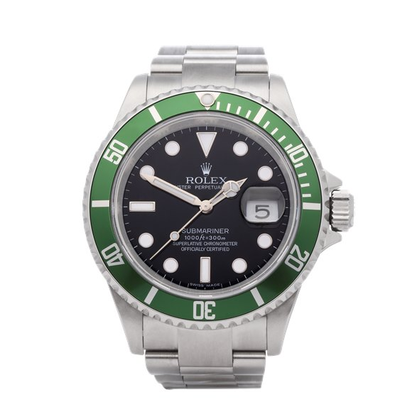 Rolex Submariner Date 'Kermit' Stainless Steel - 16610LV