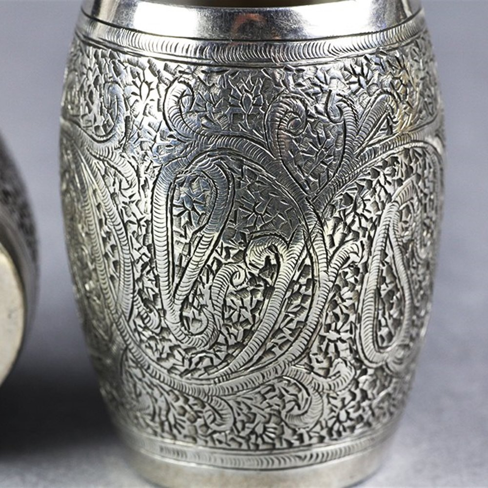 PAIR INDIAN DECCAN SILVER CUPS Circa 1900