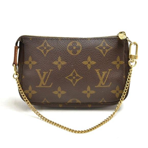 Louis Vuitton Damier Ebene Coated Canvas Mini Pochette Accessoires