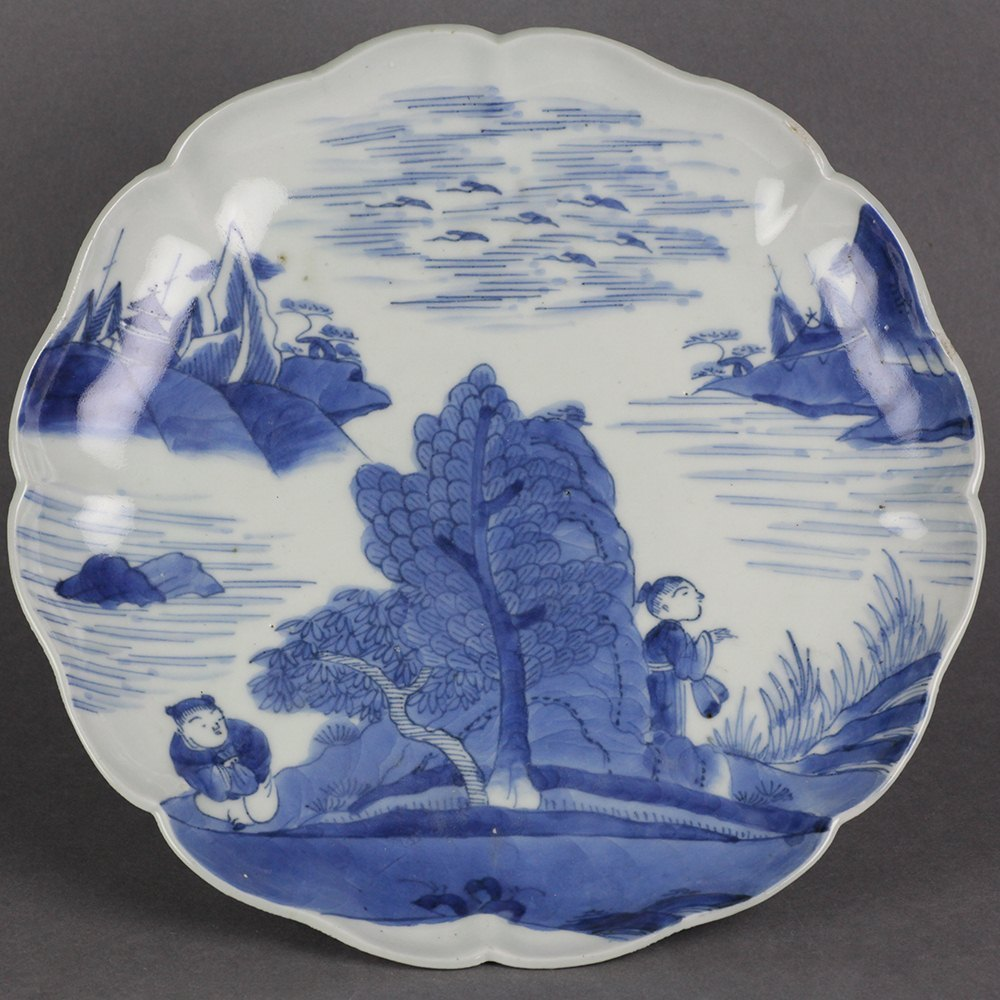 JAPANESE MEIJI ARITA PLATE Believed Meiji period dating to the 19th century or possibly earlier