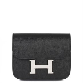 Hermès Noir Epsom Leather Constance Slim Wallet
