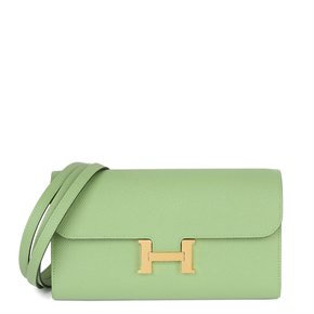Hermès Vert Criquet Epsom Leather Constance To Go Long Wallet